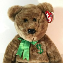 Billionaire Bear TY Beanie Baby Employee Exclusive Thank you 2002 with Hang Tag - $38.49