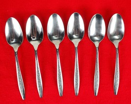 6X Teaspoons Superior International Silver Petal Lane Stainless Flatware... - $18.81