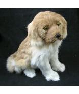 "Genuine Fur Dog Figure 9"" Tall Puppy Labrador Retriever Rabbit Hair Vtg - $19.77"