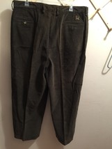 """Tommy Hilfiger Men's Green/Brown 40X28"""" Pleated Corduroy Pants - $19.99"""
