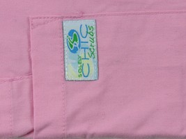 "Women's Solely CHIC Scrubs Uniform Scrub Ccpk Pink Pants Inseam 28"" Size L - $12.89"