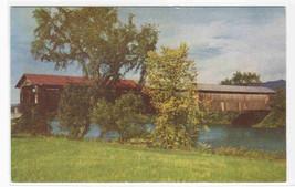 Covered Bridge Connecticut River Vermont New Hampshire postcard - $5.45