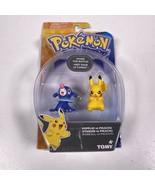 Pokémon Popplio Vs Pikachu Tomy Action Figure Toys New In Box - $10.39