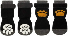 SCIROKKO 2 Pairs Anti-Slip Dog Socks - Adjustable Pet Non-Skid Paw Protection