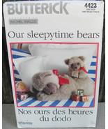 Sleepytime Stuffed Bears Mother Baby Butterick 4423 Pattern Rachel Walli... - $14.00