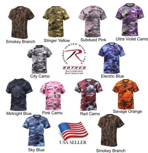 2790a259 Rothco Camo T-Shirt Military Tee Short Sleeve Camouflage Army ...