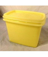 Vintage...Tupperware...Rectangular Storage Lemon / Yellow 1243-8, w/ Lid... - $8.90