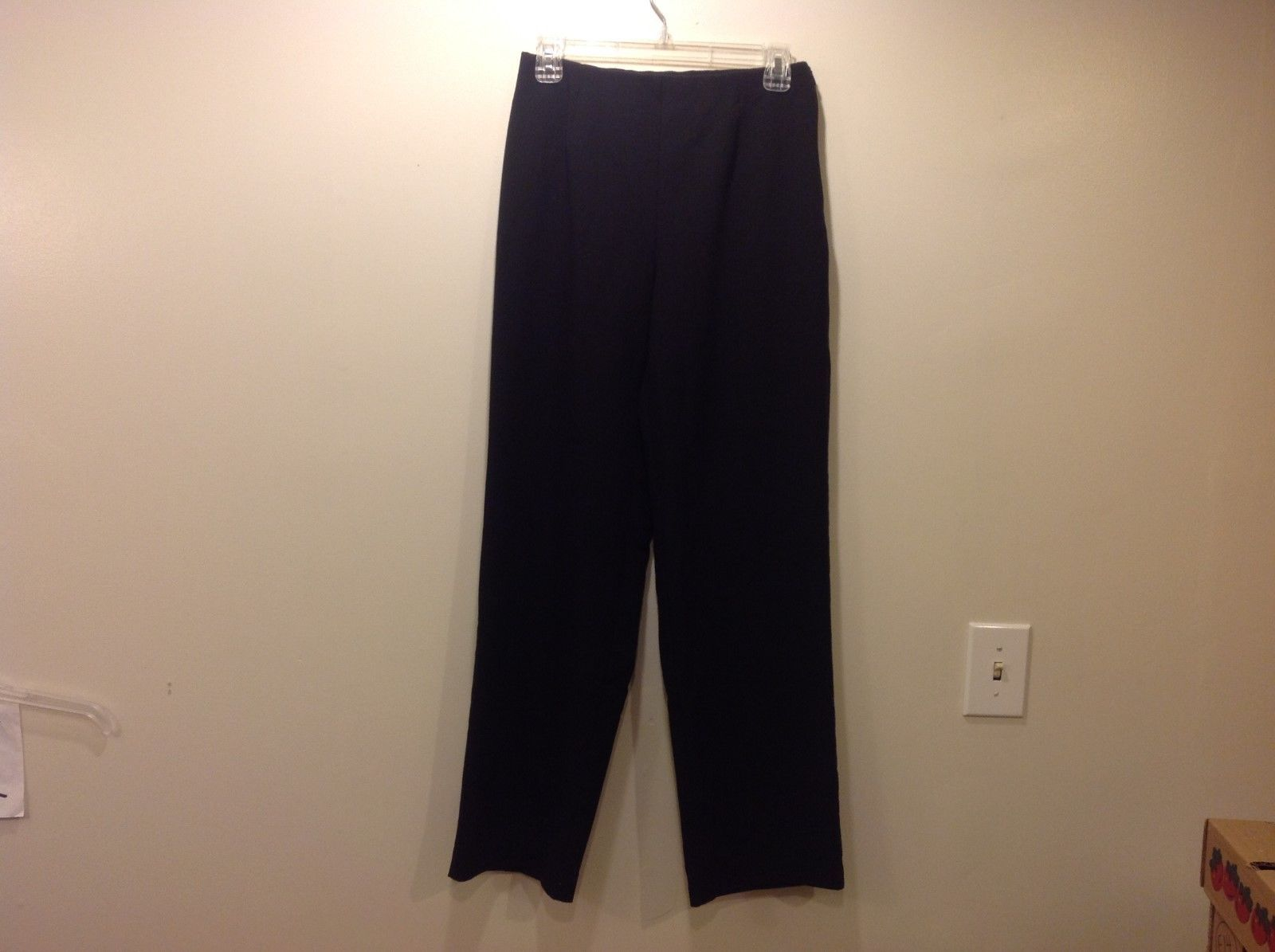 Coldwater Creek Classic Fit Sleek Black Dress Pants Sz 6