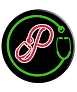 Monogram P with Stethoscope - Doctors Nurses Veterinarians - PopSockets ... - $15.00