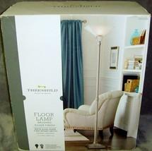 "Threshold•71""•Floor Lamp•White Glass Shade•Brushed Silver Finish•3-Way S... - $71.99"