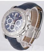 Carl F. Bucherer Patravi Chronograph GMT Blue 42.5mm Stainless Watch 106... - $2,143.12