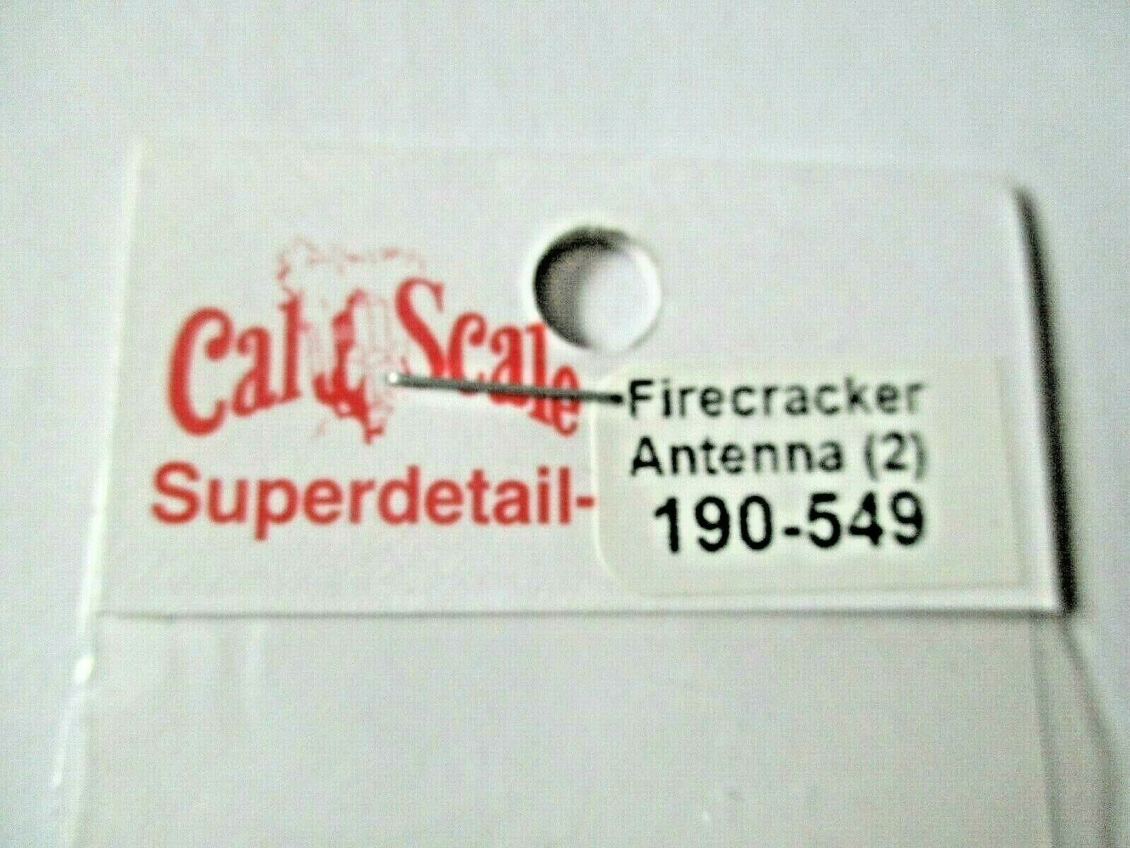 Cal Cal Scale # 190-549 Brass Firecracker Antenna 2 Pack HO Scale