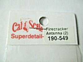 Cal Cal Scale # 190-549 Brass Firecracker Antenna 2 Pack HO Scale image 1