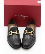 NIB Salvatore Ferragamo Mens Bond Gancini Bit Black Leather Loafers 10 43 E - $396.96