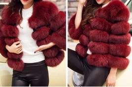 Women Winter fashion Designer Thick Faux Mink Coat image 11