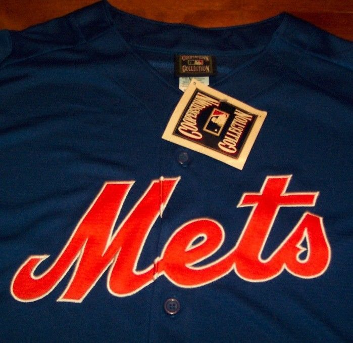 VINTAGE STYLE NEW YORK METS MLB BASEBALL STITCHED JERSEY 2XL XXL  NEW W/ TAG