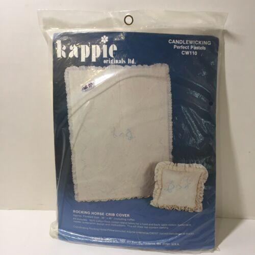 "Rocking Horse Crib Cover Candlewicking Kit 36"" x 46"" Kappie Originals Quilt - $48.37"