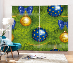 3D Tree Balls 2 Blockout Photo Curtain Printing Curtains Drapes Fabric W... - $130.83+