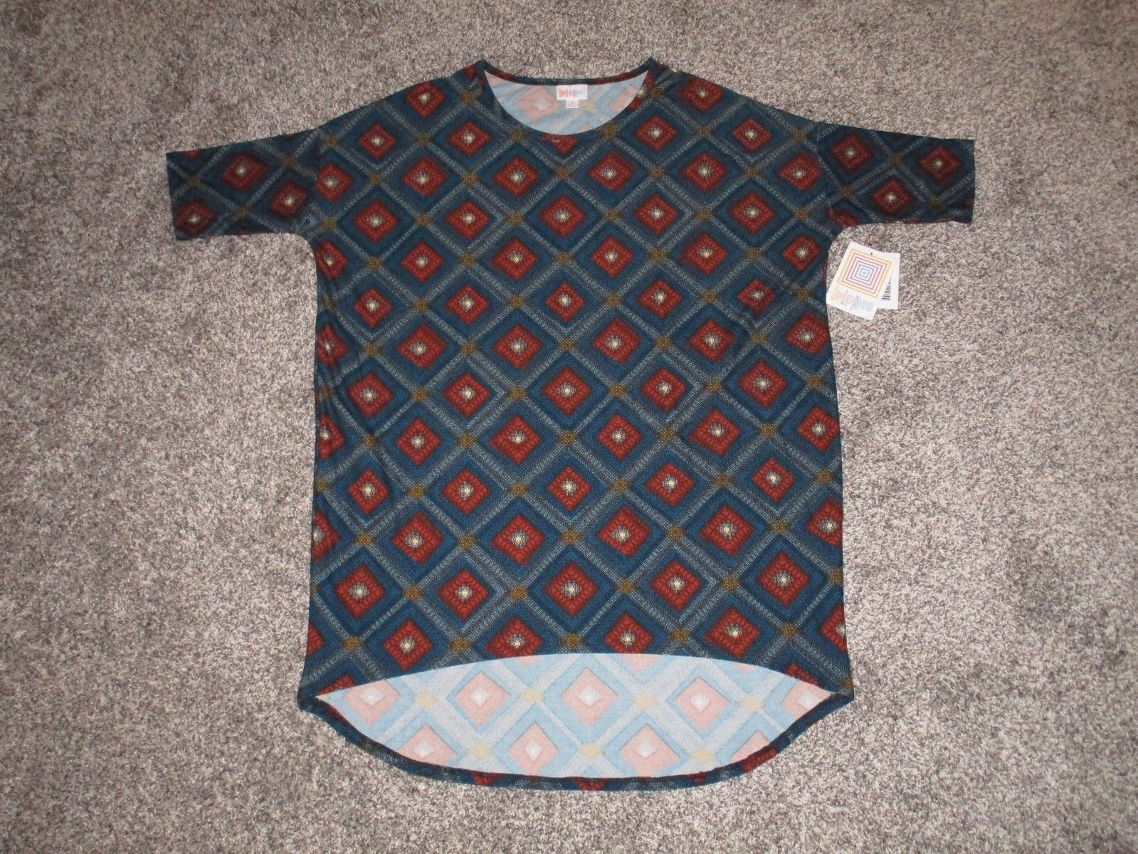 c9609e11e0c26a LuLaRoe Irma Top, Teal Blue & Red, Women's and 50 similar items