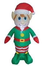 4 Foot Tall Lighted Christmas Inflatable Elf LED Yard Art Decoration - $34.38