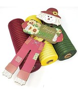 """Scarecrow Fall Sunflower 10"""" Deco Mesh Wreath Kit with 3 Mesh Rolls and ... - £24.19 GBP"""
