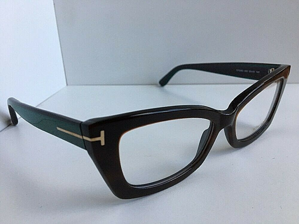 New Tom Ford TF 536 052 Brown 53mm Cats Eye Women's Eyeglasses Frame