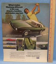 Vintage 1973 Magazine Ad for the Ford Mustang Hardtop Convertible and Mach I - $5.93