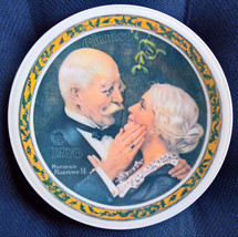 Knowles Norman Rockwell Golden Christmas 1976 Collectors Plate - $18.50