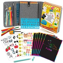 Fun Activity Kit Case for Kids 3+ Includes Colored Pencils, Stencil, 60-... - $42.57