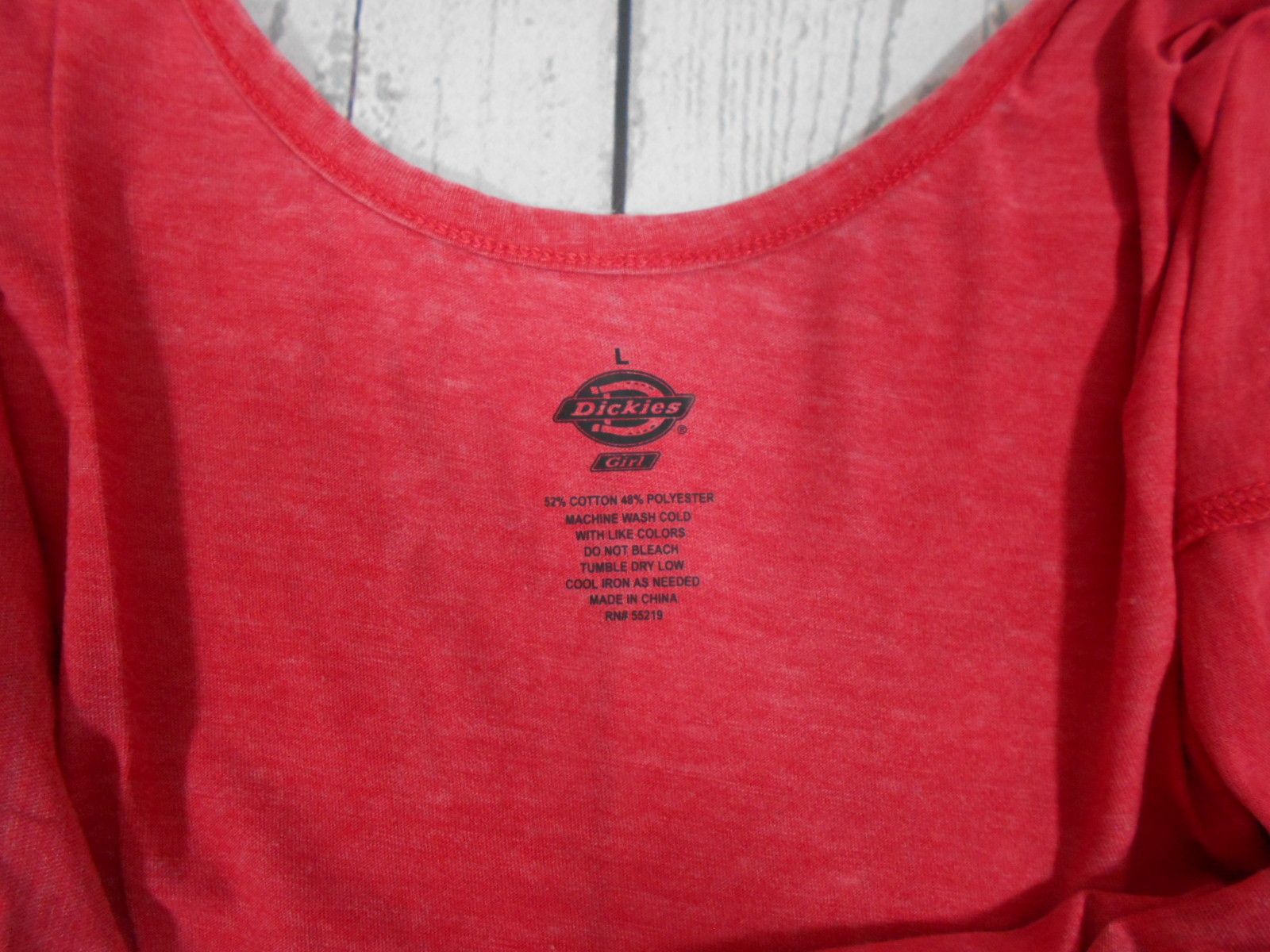 081890eead96b3 Dickies Girl Women s Jr Plunging Back Graphic Tank Red Size-Large ...