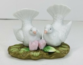 """Lefton China 1985 Doves 05134 Pink Flowers Rose LoveBirds 2 1/4""""Tall NO ... - $5.93"""
