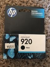 HP 920 Black Original Ink Cartridge (CD971AN) April 2013 - $15.00