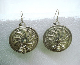 vintage antique tribal old silver ear plug earrings traditional jewelry ... - $134.64