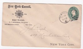 NEW YORK COUNCIL ROYAL ARCANUM B.F. QUACKINBUSH NEW YORK NY 12/6/1894 - $2.98