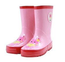Cute Starry Kids' Rain Boots Pink Deer Children Rainy Days Shoes 16.4CM