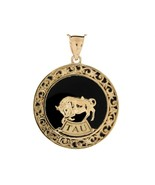10K or 14K Yellow Gold & Onyx Taurus Zodiac Pendant - $599.99+