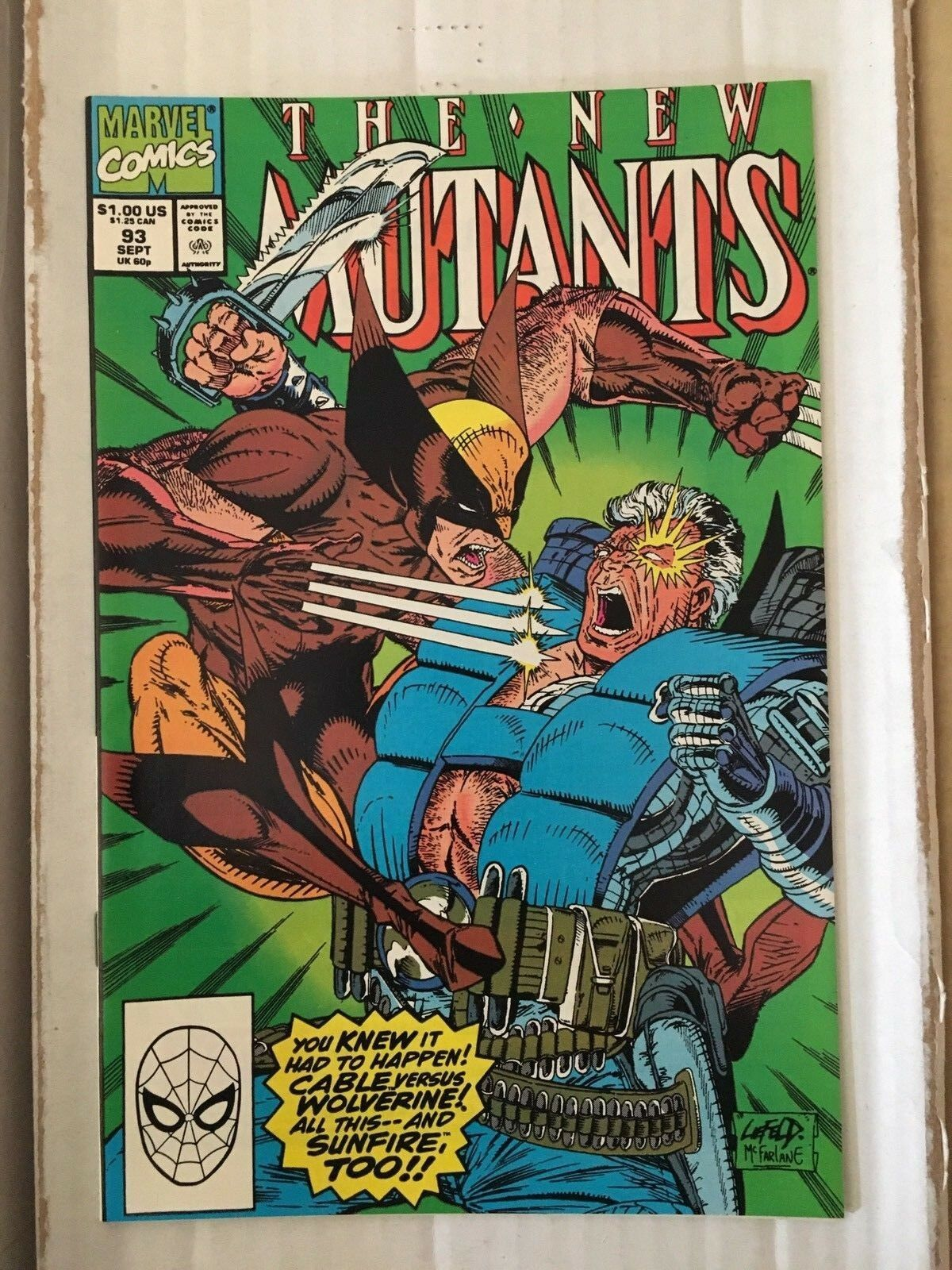 New Mutants #85 Marvel Comic Book from 1990 VF+/NM Liefeld / Todd McFarlane