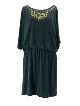 Thalia Sodi Women's Black Jeweled Chest Elastic Waist Long Sleeve Dress ... - $24.75