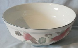 "Mikasa Silk Flowers White Green and Pink F3003 Round 8 1/2"" Serving Bowl - $21.67"