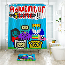Cartoon Shower Curtain Waterproof Polyester Fabric & Bath Mat For Bathroom - $16.30+