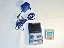 Nintendo Game Boy Color Atomic Purple CGB-001 with Shrek and Adapter  - $39.60