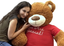 5 Foot Giant Teddy Bear 60 Inches Soft Cinnamon Brown Color YOU ARE SPECIAL - $127.11