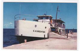 Steamer Ferry Ship C G Richter Washington Island Door County Wisconsin p... - $6.00