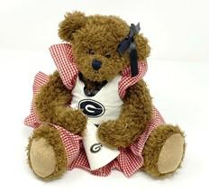 Ridgewood UGA Georgia Bulldogs Cheerleader Brown Bear Megaphone Gingham ... - $15.19