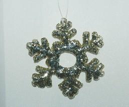 Sage Company XAO11985PL Glittered Snowflake Ornament 12 Pieces Platinum Color image 2