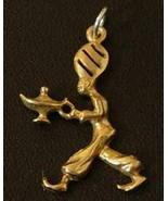 LOOK 0665 Aladdin Magic Lamp Genie charm Silver Gold plated - $18.34