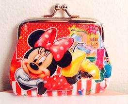 So Cute! Sweet Minnie Mouse Polka-Dot Bow Coin Purse— More Fun Character... - $5.00