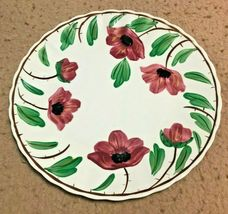 Blue Ridge Colonial Wild Irish Rose (Red) Luncheon Plate - $24.95