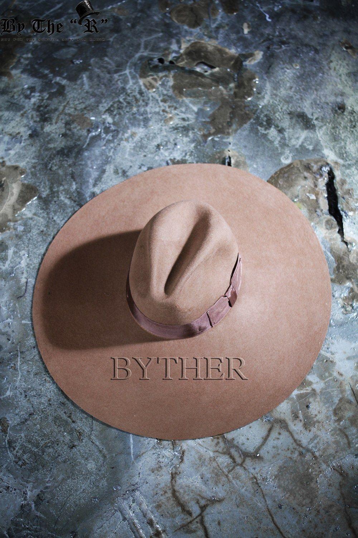 ByTheR Unisex Modern Chic Classic Style Floppy Wide Brim Wool Felt Fedora Hat image 5