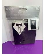 10 Count Wedding Favor Boxes Black Tuxedo Design NEW Details Accessories - $4.99